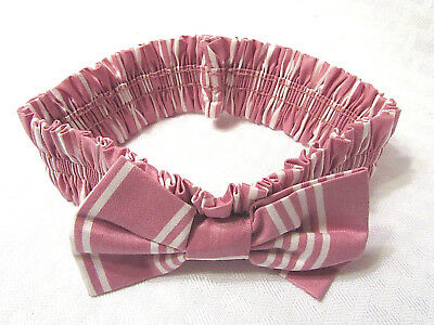 Longaberger Small Basket Fabric Garter 2616615 Dusty Rose Stripe Pink New in Bag