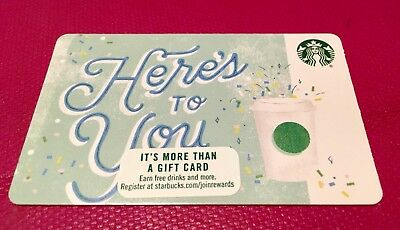 """NEW RELEASED / STARBUCKS GIFT CARD """"HERE'S TO YOU"""" No Cash Value"""