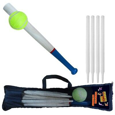 """NEW 18"""" Deluxe 6 Piece Wooden Rounders Set With Carry Bag"""