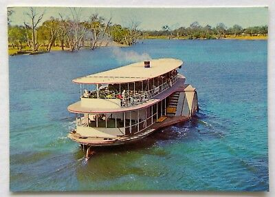 P.S. Melbourne River Murray Mildura 1973 Postcard (P321)
