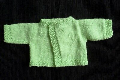 Baby clothes UNISEX BOY GIRL premature/tiny<5lbs/2.3kg green cardigan SEE SHOP!