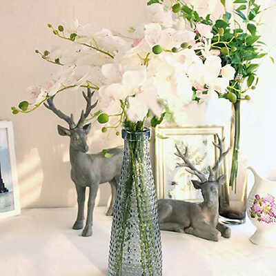 FX- Artificial Butterfly Orchid Silk Floral Flower Stem Party Wedding Home Decor