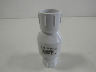 "NDS 1011-10 1"" PVC Ips Spring Check Valve S by S 5-1/4"" Length (H159830)"