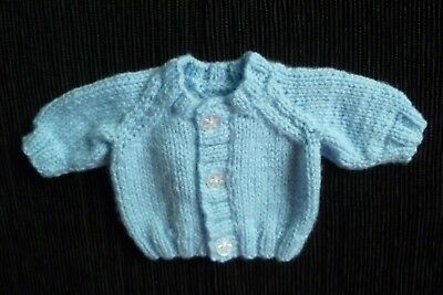 Baby clothes BOY premature/tiny<3.5lb/1.6kg NEW! soft, blue cardigan SEE SHOP!