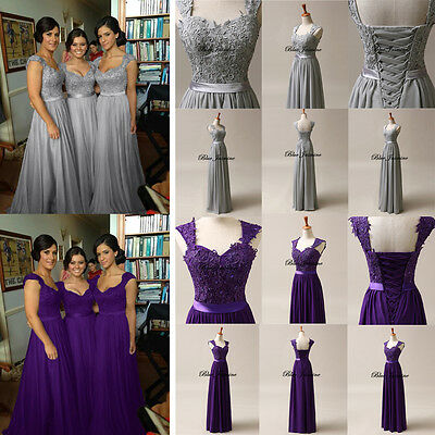 New Long Chiffon Formal Bridesmaid Dress Evening Party Prom Gown Plus Size 6-28