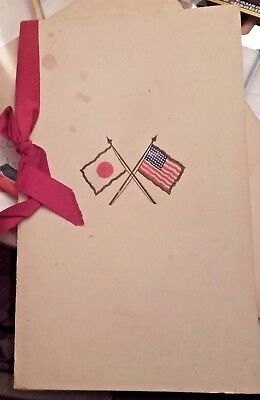 Original  Dinner Menu USA & Japanese Financial Commision ,1914,Boston-