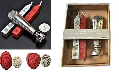 Bee & Snowflake Pewter Art Deco Handle Wax Seal KIT or Coins / Wax only  XPWS-AD