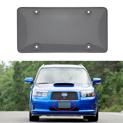 2pcs Carbon Fiber License Plate Number Frame Cover Black Set Auto Car Tag 3K