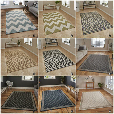 Flat Weave Outdoor Indoor Small Extra Large Geometric Designer By Think Flat Rug