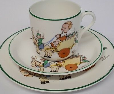 Art Deco Shelley Mabel Lucie Attwell porcelain trio.