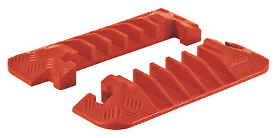 Checkers Line Backer - 5 Channel Cable Protector Orange End Caps Pair