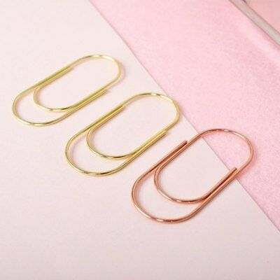 5pcs 50mm Large Size Metal Paper Clips Kawaii Gold Rose Gold Binder Clips