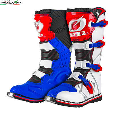 Stivali Motocross Enduro Motard Oneal Rider Boot Eu Blue/red/white