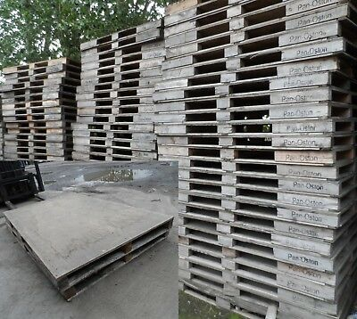 Used 2m x 1.2m Large Wooden Industrial Pallets Very Good Quality *£10+Vat Each*