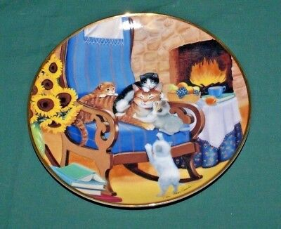 Franklin Mint Heirloom Limited Edition Time to Play Cat Collector Plate # L5423