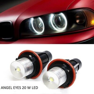Angel Eyes led luce bianca  6000K  20W  per BMW E87 E60 E64 E39 X5 E53