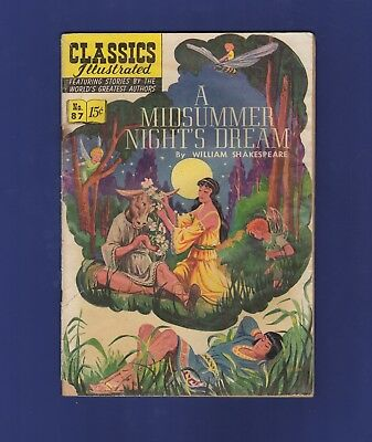 Classics Illustrated No. 87 A Midsummer Night's Dream 87 Back Well Read