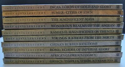 LOST CIVILIZATIONS 10 Time-Life Volumes as Lot, All VG