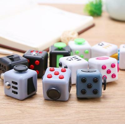 REAL Fidget Cube Dice 6-side Anxiety Stress Relief Fidgets Focus Toys 13 Colors