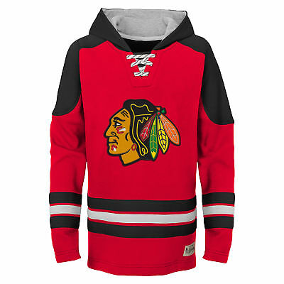NHL Chicago Blackhawks Team Logo Hoodie Youth Kids Fanatics
