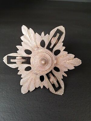 Antique French Rise And Fall Brass Ceiling Rose