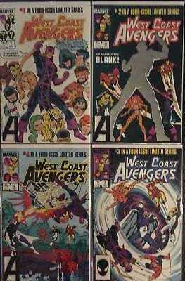 west coast avengers Complete Limited Series #1 - #4. Bagged And Boarded, NM/VF!