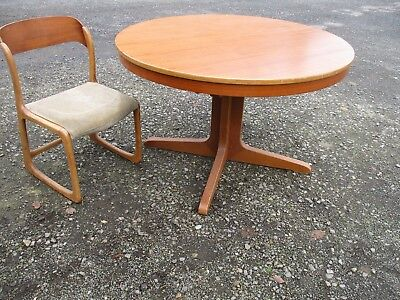 Table Ronde Scandinave A Pied Central Ancienne Eur 240 00