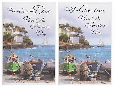 Dad  ~ Grandson  Birthday Card ~ For You Dad Have An Amazing Day