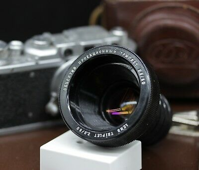 Vintage Lomo Triplet 2.8/80mm USSR projection Lens For creativity Lomography