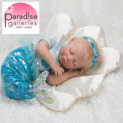 Paradise Galleries Realistic Mystic Mermaid Doll 20 inch Reborn Baby Girl Doll