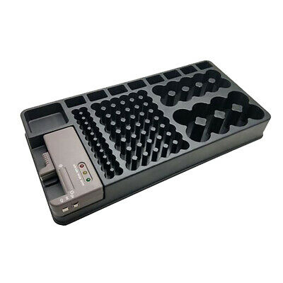 AAA AA Battery Storage Case Organizer with Removable Tester Holder Holds Box