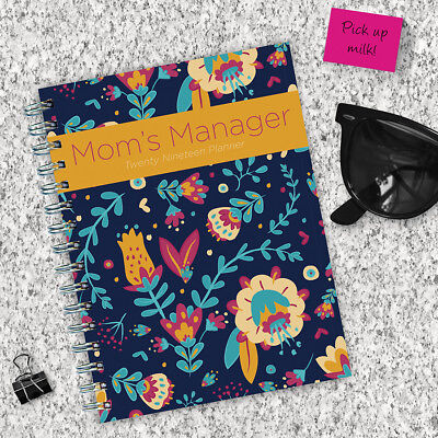 2019 Mom's Manager Medium Weekly Monthly Planner