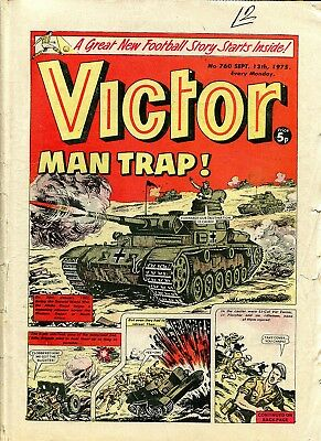 VICTOR Comic 13 September 1975 WW2 2nd Rifle Brigade North Africa Xmas Gift