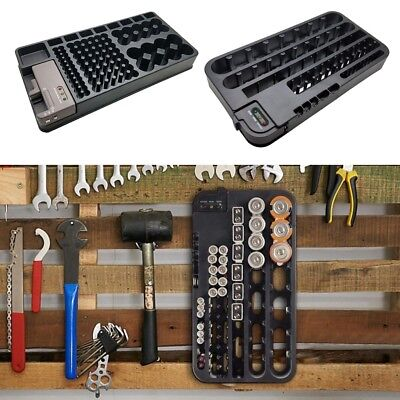 MagiDeal Battery Organizer Storage Rack with Removable Battery Tester Holds