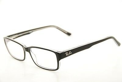 New Authentic Ray Ban RB 5169 2034 Black/Clear 54mm Frames Eyeglasses RX