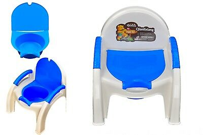 New 2 in 1 Baby Kids Children Toddler Potty Toilet Training Trainer Potty Chair