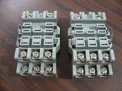 Lot of 2 New Potter Brumfield 27E893 Cube Relay Bases (11 Pin Square ) 15A 300V