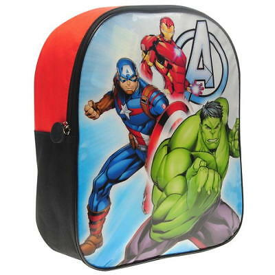 Official Marvel Avengers Assemble Boys School Backpack Rucksack New