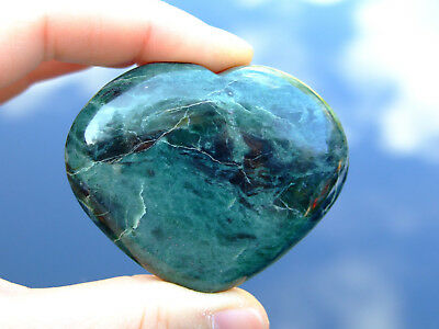 Nephrite Jade Carved Heart Natural Gemstone Crystal Reiki Chakra Healing Stone