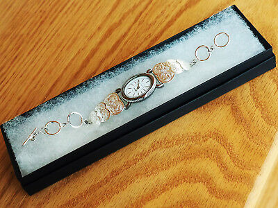 "A TRULY GORGEOUS QUARTZ WATCH by MONTANA SILVERSMITHS WITH A ""HEARTS"" BRACELET"