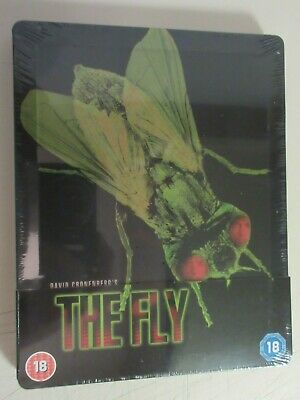 THE FLY Steelbook Blu-Ray UK Sealed Debossed Brand New