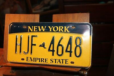2010 New York Empire State License Plate HJF 4648 (B)