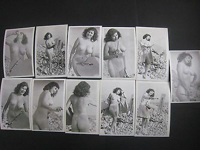 ORIGINAL 1950S  PINUP PHOTO LOT OF 11... # 573-35..Risque,Nude..Artist