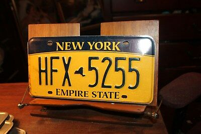 2010 New York Empire State License Plate HFX 5255