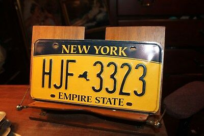 2010 New York Empire State License Plate HJF 3323