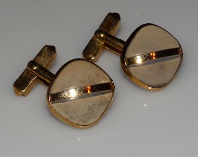 Vintage Clear LUCITE & goldtone mens cufflinks 1960's by Swank