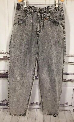 Vintage 90s Gitano High Waisted Mom Dad Jeans Tapered Acid Stoned Wash 34x 31.5