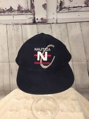 Vintage Nautica Competition 6 Panel Hat VTG 90s Sailing Red Navy Cap  Adjustable cd35e355fb3