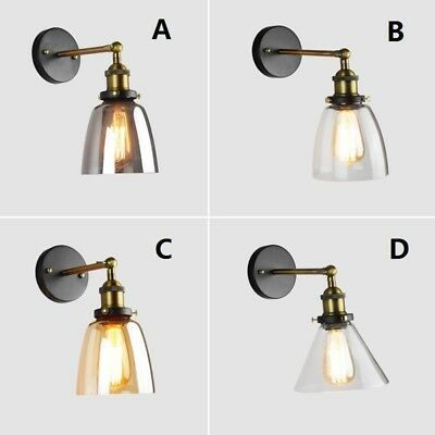 Swing Arm Wall Lamp Kitchen Indoor Wall Lights Glass Wall Sconce Bar Lighting
