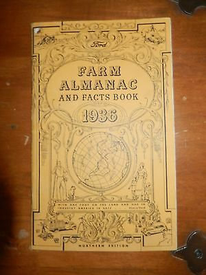 Ford 1936 FARM ALMANAC AND FACTS BOOK Northern Edition